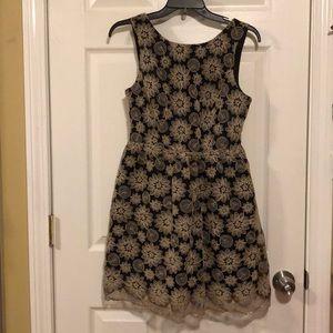 Everleigh Sleeveless Lace Flare Dress